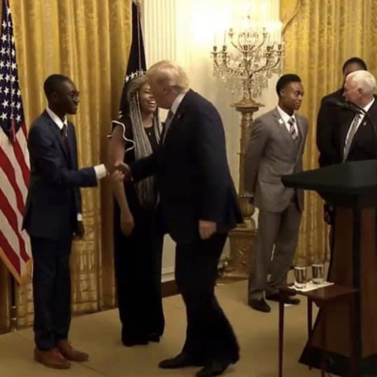 Our National Director of Advancement shaking @realDonaldTrump's hand.  This is absolutely amazing.  We love our President!  🇺🇸