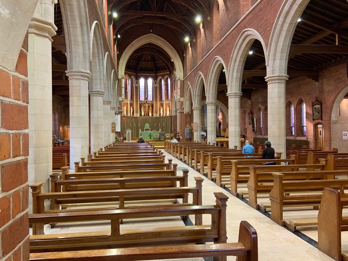 test Twitter Media - This weekend I'm on a Pastoral Visitation to Corpus Christi, the Jesuit parish in Bournemouth. It's a splendid church with excellent parishioners, all in the good care of Fr Adrian Howell SJ. The numbers are impressive, with 89 children preparing for First Holy Communion. https://t.co/Hk20x6dwdD