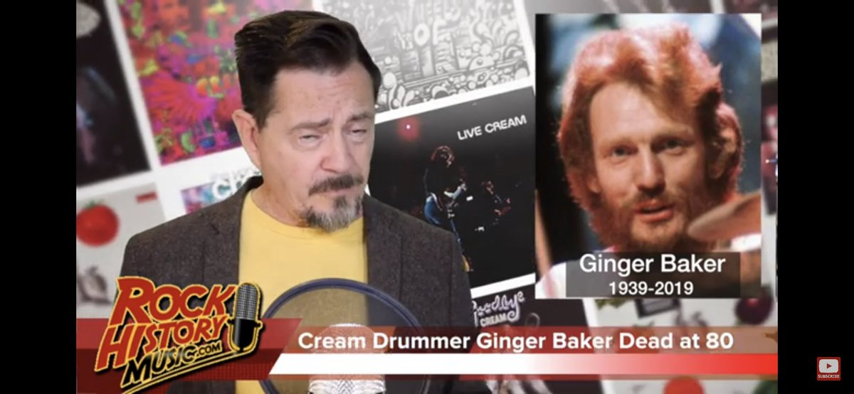 I am so truly sad to hear of the passing of #GingerBaker - master of music, timing, drums and real rock n roll. God bless u mate and thanks for the inspiration