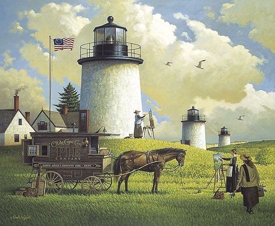 Hello again,  Sunday evening and I hope you've all had a decent weekend. The weather here is horrid, wet drab dark and totally yuck.  Dogs hate it and Max had weed at least three times in the house!  Super Folk art American style by Charles Wysocki. https://t.co/Emjl0VjP4W