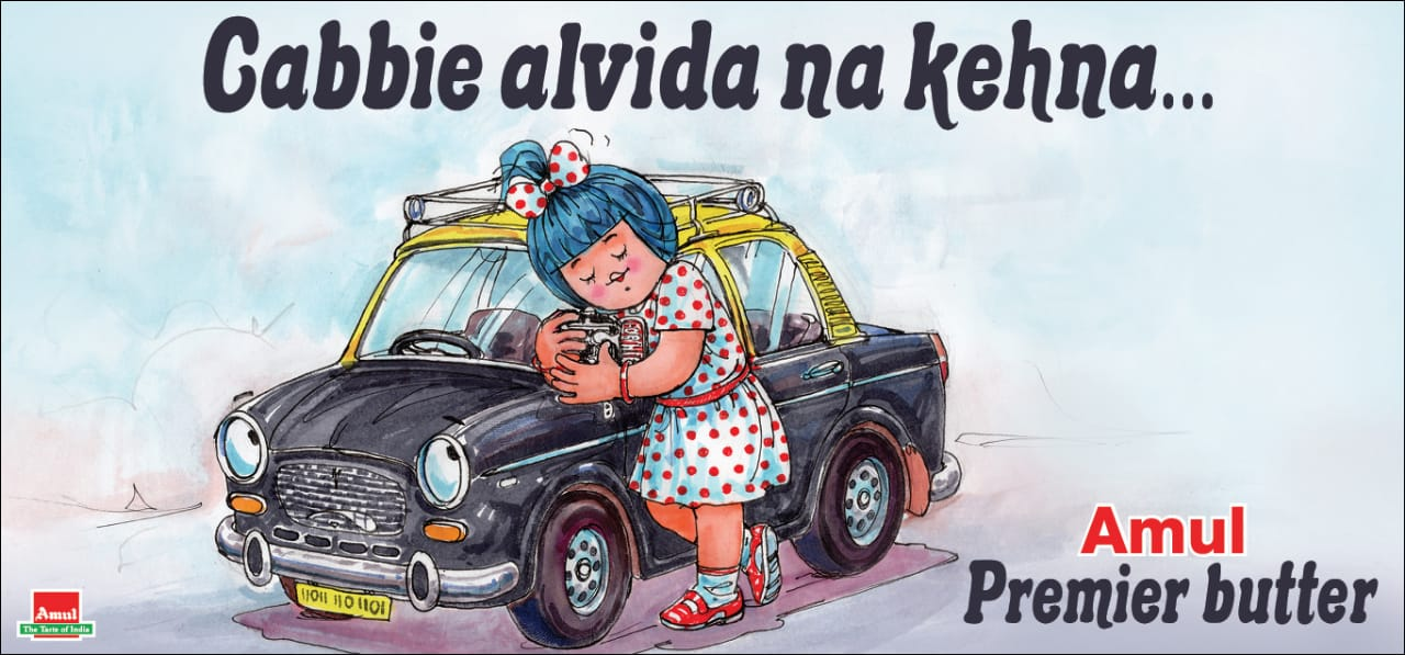 #Amul Topical: End of the road for Mumbai's Premier Padmini taxis!! https://t.co/zCkznfxXow
