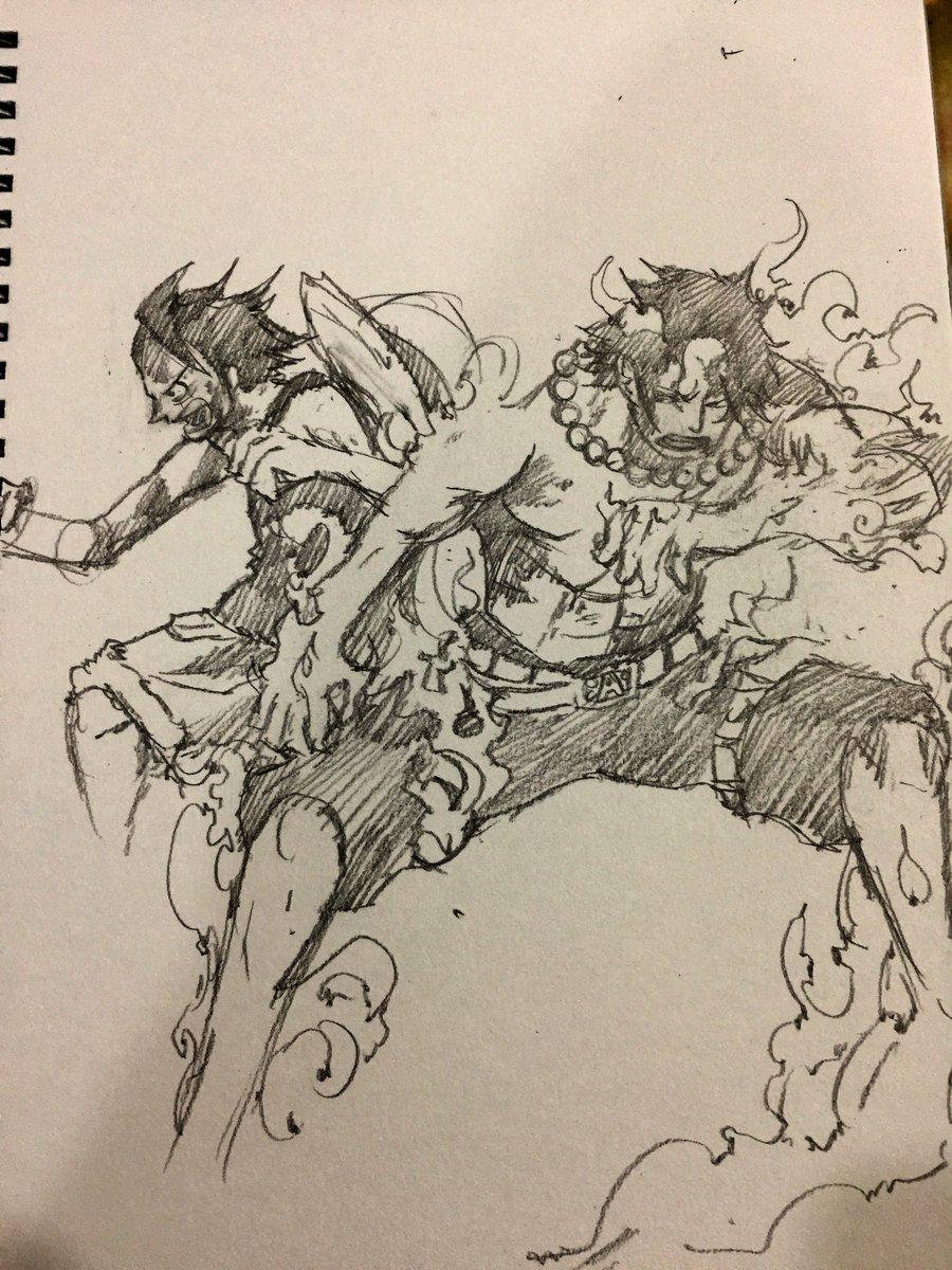 test Twitter Media - Luffy Ace sketch  #ワンピース #モンキーdルフィ #ルフィ #ペン画 #드로잉 #예술 #그림 #원피스 #鉛筆画 #航海王 #海賊王 #onepiece #onepiecemanga #strawhat #mugiwara #monkeydluffy #portgasdace #anime #manga #otaku #Pencildrawing #pencilsketch #sketch #drawing #artwork #illustration https://t.co/4zUXft6i1V