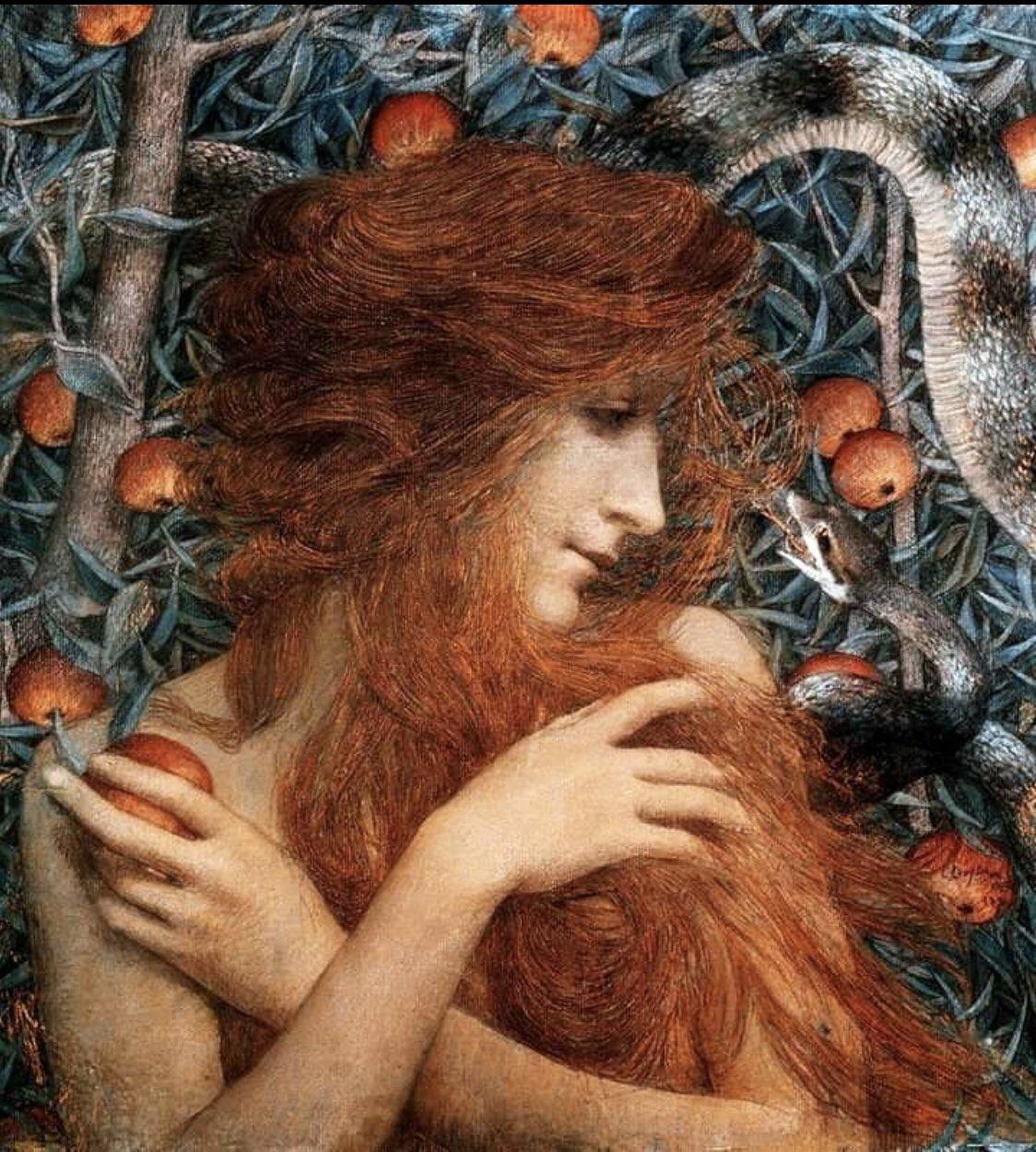 Eve  ~Lucien Levy-Dhurmer (1896) https://t.co/vAuFgDBt9J