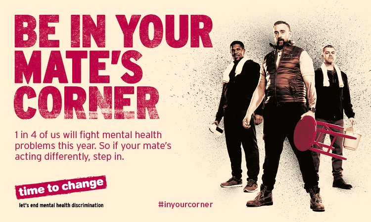 Active Oxfordshire are proud to be behind #WorldMentalHealthDay and the importance of being #inyourcorner to give support whenever it's needed.