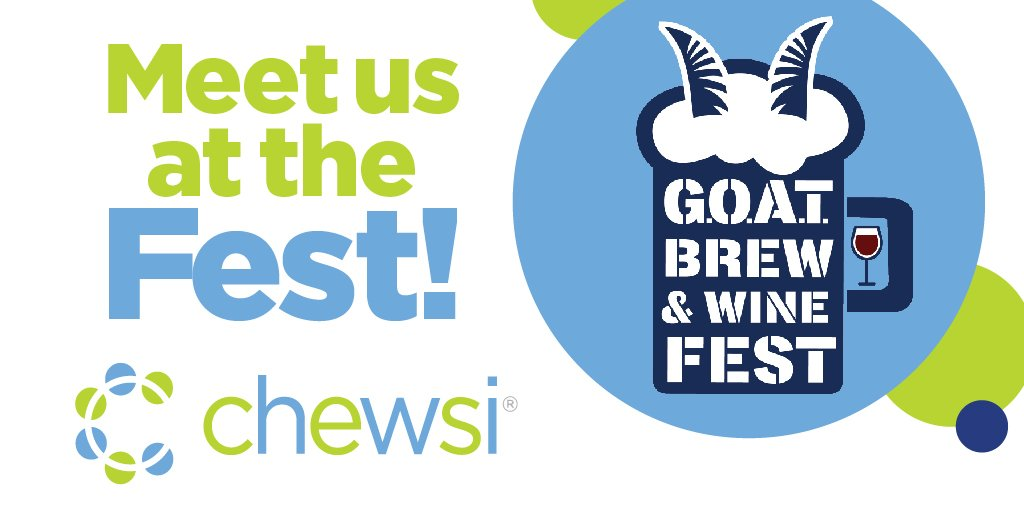 This fall weather doesn't stop us from sponsoring cool events! Chewsi is a sponsor for the @GoYardGoats G.O.A.T. Brew & Wine Fest on October 19 at the Dunkin' Donuts Park! Don't forget to buy your tickets and visit our table to learn more about Chewsi in CT! #chewsi #yardgoats https://t.co/kfAXbRXLOX