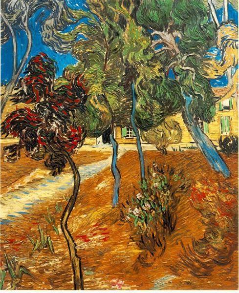 Trees in the Asylum Garden, 1889 by Vincent van Gogh https://t.co/8iaorEPhBt