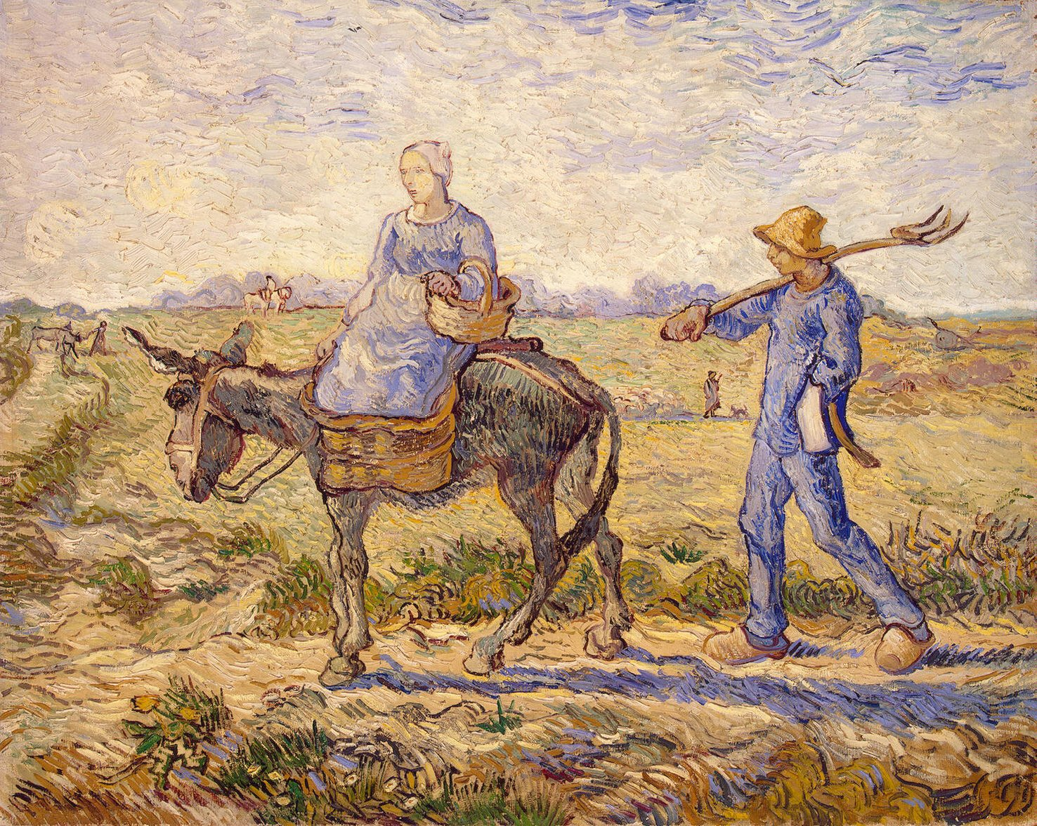 Vincent van Gogh  - Morning, Going to Work, 1890 https://t.co/c0LY0D6RmR