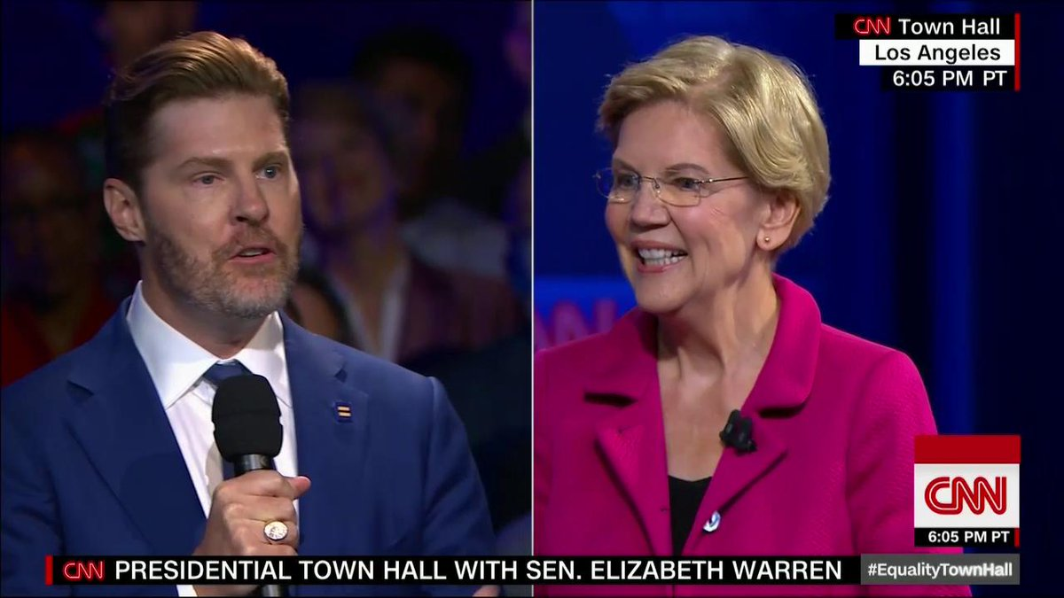 This Elizabeth Warren answer was quite a moment at CNN #EqualityTownHall