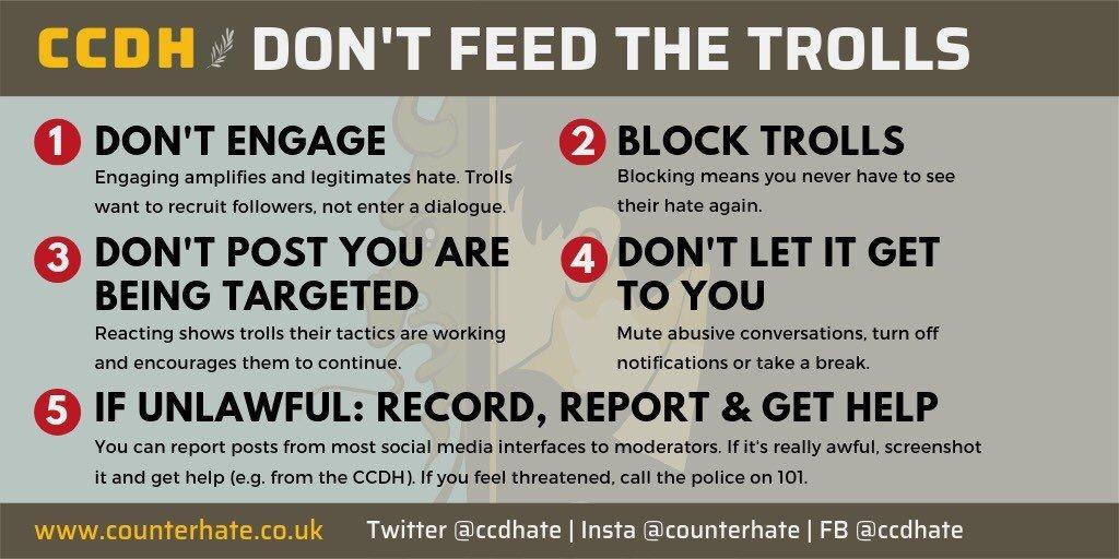 End Hate Block Trolls #DontFeedTheTrolls https://t.co/EkOVELIaSD
