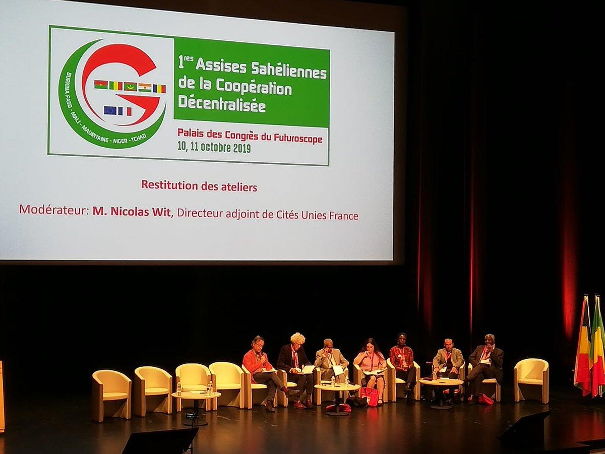 test Twitter Media - Restitution des ateliers avec les rapporteurs oraux des 4 ateliers #Décentralisation et #gouvernance; #Jeunesse-#formation #employabilité; #Agriculture-sécurité alimentaire ; #Énergie-#climat #AssisesSahel2019 #Burkina 🇧🇫 #Mali 🇲🇱 #Mauritanie 🇲🇷 #Niger 🇳🇪 #Tchad 🇹🇩 https://t.co/QMLTJjdcLe