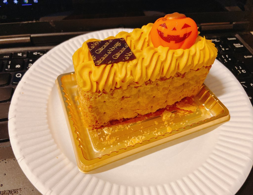 test ツイッターメディア - 先日食べた ガトードボワイヤージュのパンプキンミルフィーユは美味だった(・∀・) https://t.co/JxLcDdUtON