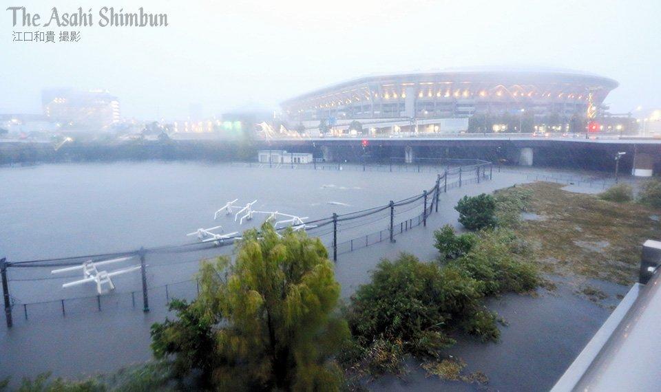 朝日新聞、遊水地 冠水 日産スタジアム 地元民 貯水に関連した画像-02