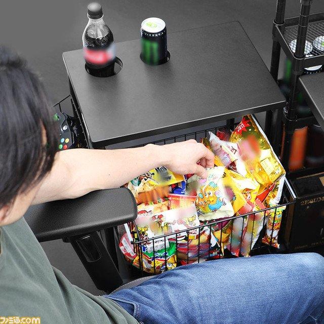 ゲーミングワゴン ネカフェ 冷蔵庫 オプ ドリンクホルダーに関連した画像-03