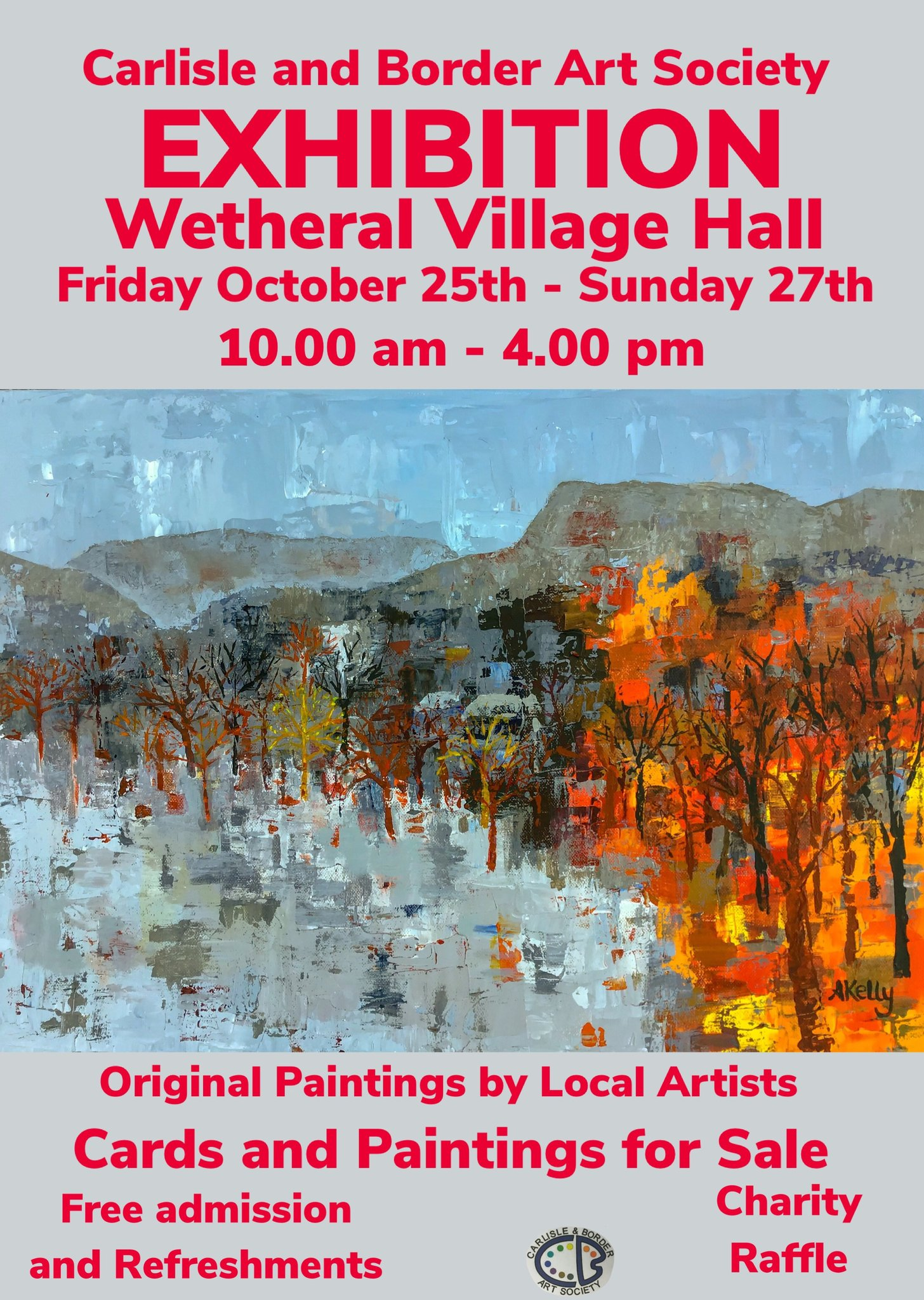 I will be showing some of my work here in a couple of weeks...#Cumbria #art #Edenvalley #Wetheral https://t.co/o7B0CbQqW4