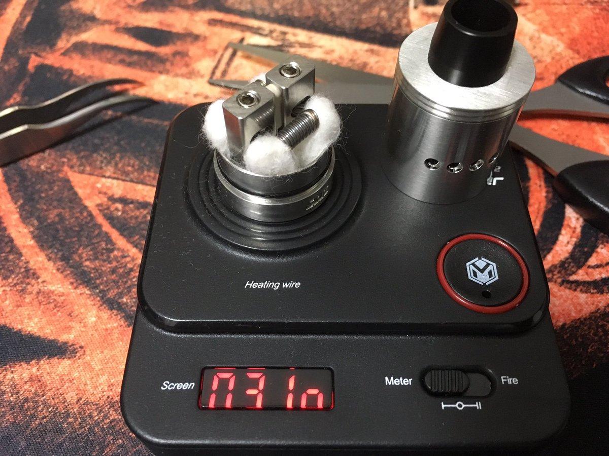 test ツイッターメディア - Sub Ohm Innovations SZX Competition RDA 注文しているコイルがまだ届かないのでとりあえずパラで組んでみました😆 リキッドはHiLIQのFuntaオレンジ🍊  う〜ん、味は出るけど煙量がイマイチ😅やっぱり太めのコイルがいいのかなぁ🤔 https://t.co/DWwKt9MB4m