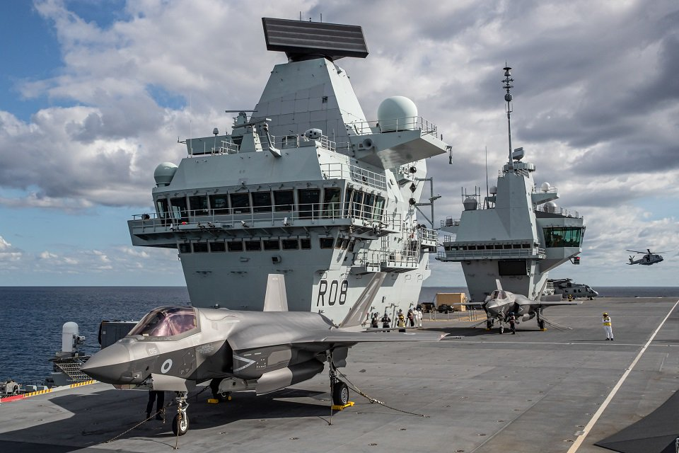 """test Twitter Media - Earlier today the UK's F-35 Lightning jets landed onboard @HMSQNLZ for the first time. Defence Secretary, Ben Wallace said: """"This is another step toward's the UK's carrier strike capability becoming fully operational."""" @RoyalNavy @RoyalAirForce https://t.co/omvUBU9PrX"""