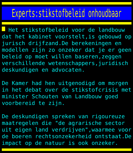 test Twitter Media - Experts:stikstofbeleid onhoudbaar https://t.co/9lLlBJ02NY