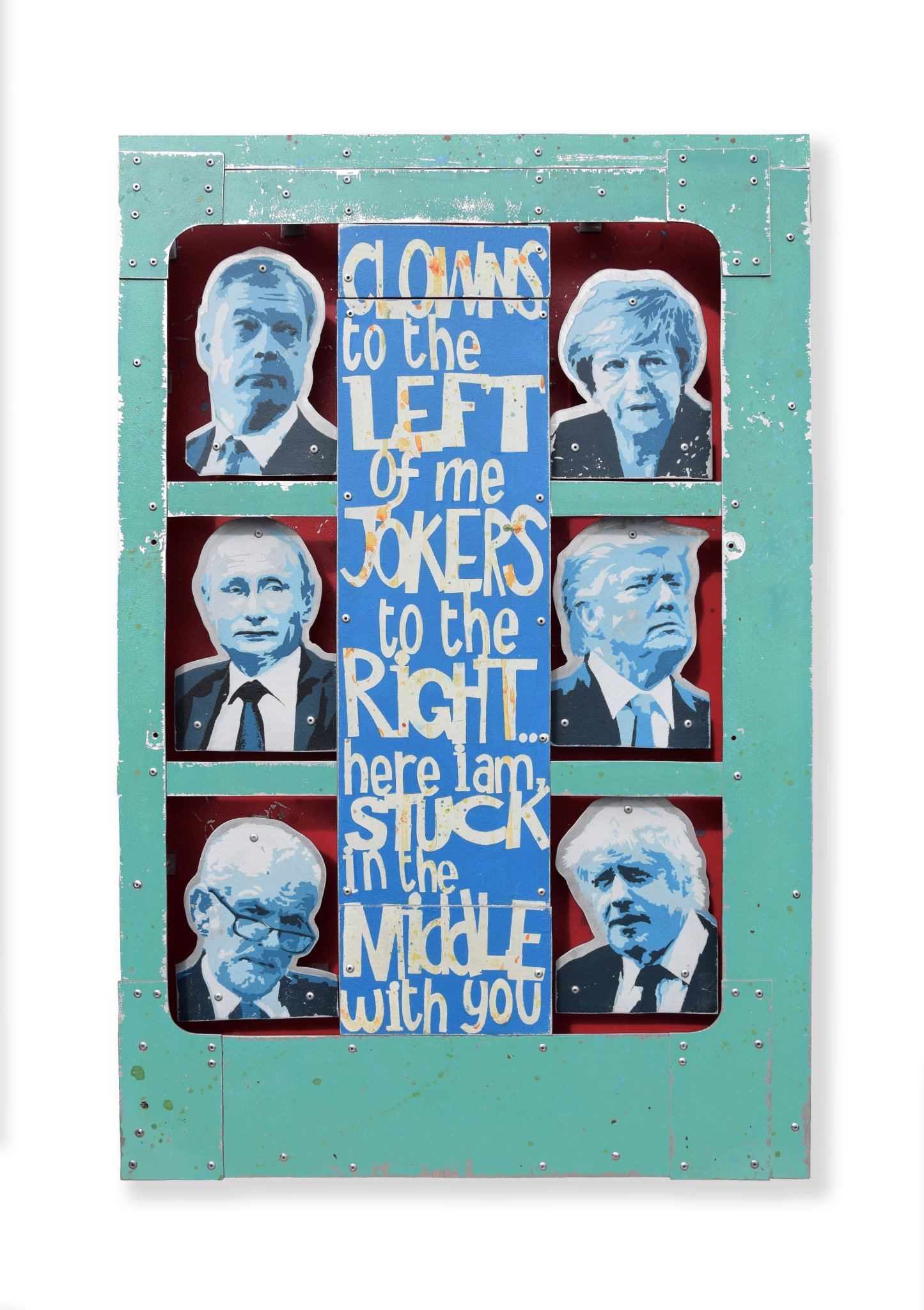 We just got an image for this piece by Andy Bridge, he told us he just couldn't resist... come and ask to see it at stand C8 @AAFLondon tonight. #art #politicalart, #aaf #artonmetal, #affordableartfair, #brexit https://t.co/fV5F2ylUBp
