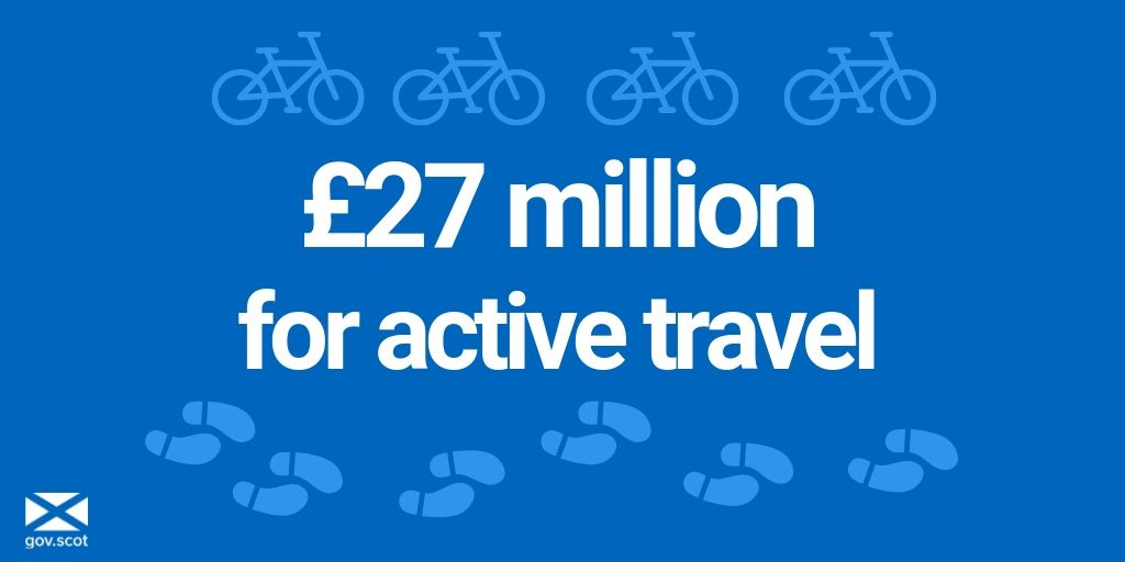 test Twitter Media - First Minister @NicolaSturgeon has announced more than 200 projects across Scotland will receive a share of £27m funding to improve walking, cycling and wheeling links in their communities. Find out more⬇️ https://t.co/TtmbKIBboh https://t.co/KNircTeq2r