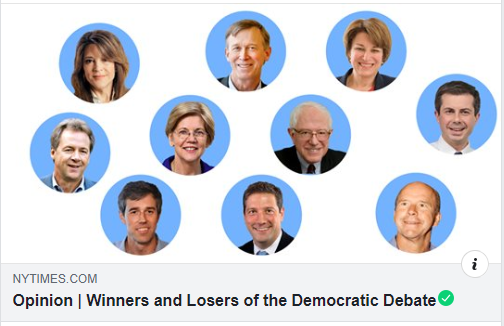 ... the @nytimes somehow made a debate graphic that included white people who AREN'T RUNNING FOR PRESIDENT ANYMORE, but none of the 3 candidates of color STILL IN THE RACE. https://t.co/3asXrqFOjD