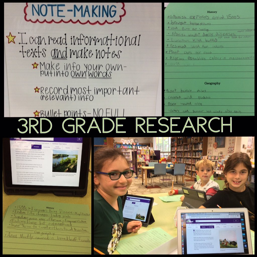 test Twitter Media - Students in @Sislow3S started making notes for their Social Studies research projects. They did a great job reading  information on American Indian history from the PebbleGo next database and making bullet point notes in their own words.  #d30learns #d30researches @AnnaDavisTIS https://t.co/RRPtEkI2YJ