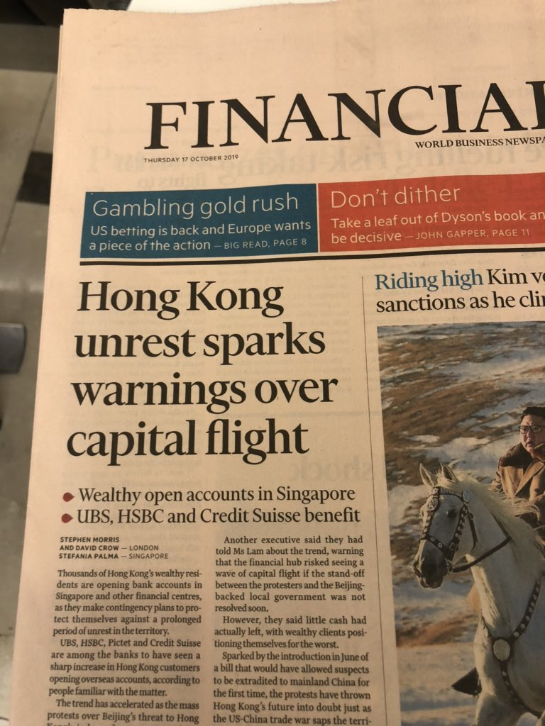 Reserves are collapsing in HK. While they appear ample to the untrained eye, the most highly leveraged financial system in the world can't afford to contract its money supply. That's exactly what is happening today. #HKexit #RunfortheHills https://t.co/ytDb1XSleC
