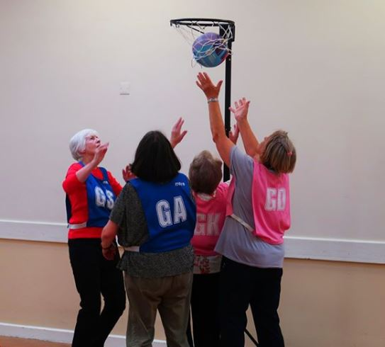 Ladies walking netball. If you'd like to give it a go come along on Thursdays, 6:30pm at John Bunyan Sports & Fitness #havefun #getfitter #walkingnetball #justturnup #netballers #activebedfordshire