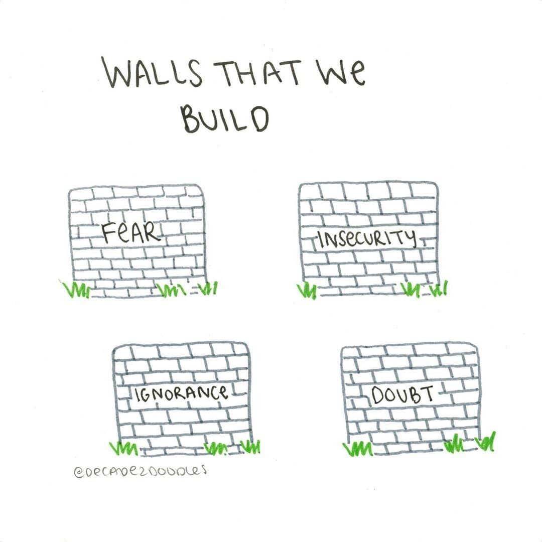 Walls that we build...  Source: Instagram. #mindfulness https://t.co/tWGNfrK5Af