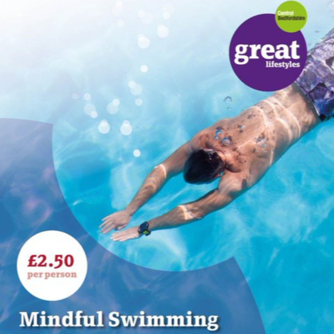 🤗 MINDFUL SWIMMING🤗  @TiddenfootLC  offer a relaxing swim session every Friday 7.30-8.30pm 🏊‍♂️  For just £2.50 swim to soothing music a destress for the weekend❗  #activebedfordshire #mindfulness #swimming #destress ️