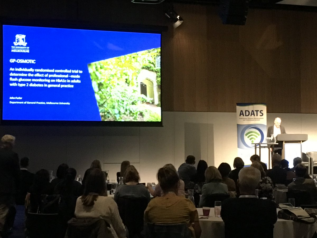 test Twitter Media - The terrific Associate Professor @JohnFurler @unimelb presenting on retrospective Continuous Glucose Monitoring  in #type2 #diabetes (GP Osmotic) study outcomes. #ADATS19 https://t.co/PUD3mki4N0