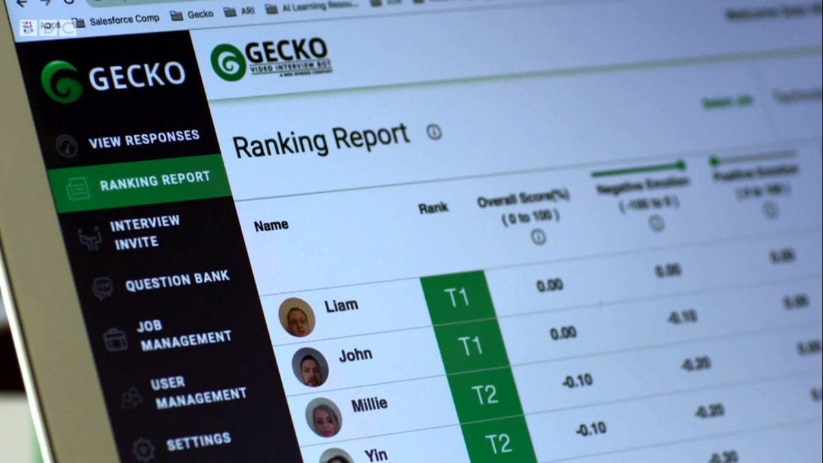 test Twitter Media - With the BBC cameras rolling, our AI-powered recruitment tool, #GECKO went head-to-head in a friendly battle of HUMAN vs AI. For our friends in the UK, you can checkout the show here: https://t.co/hwVBG11evm  #Recruitment #AI #artificialintelligence #BBC #oneshow https://t.co/FHAWGnpA77