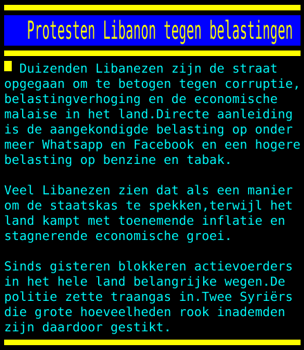 test Twitter Media - Protesten Libanon tegen belastingen https://t.co/ZTfMZBuUhR