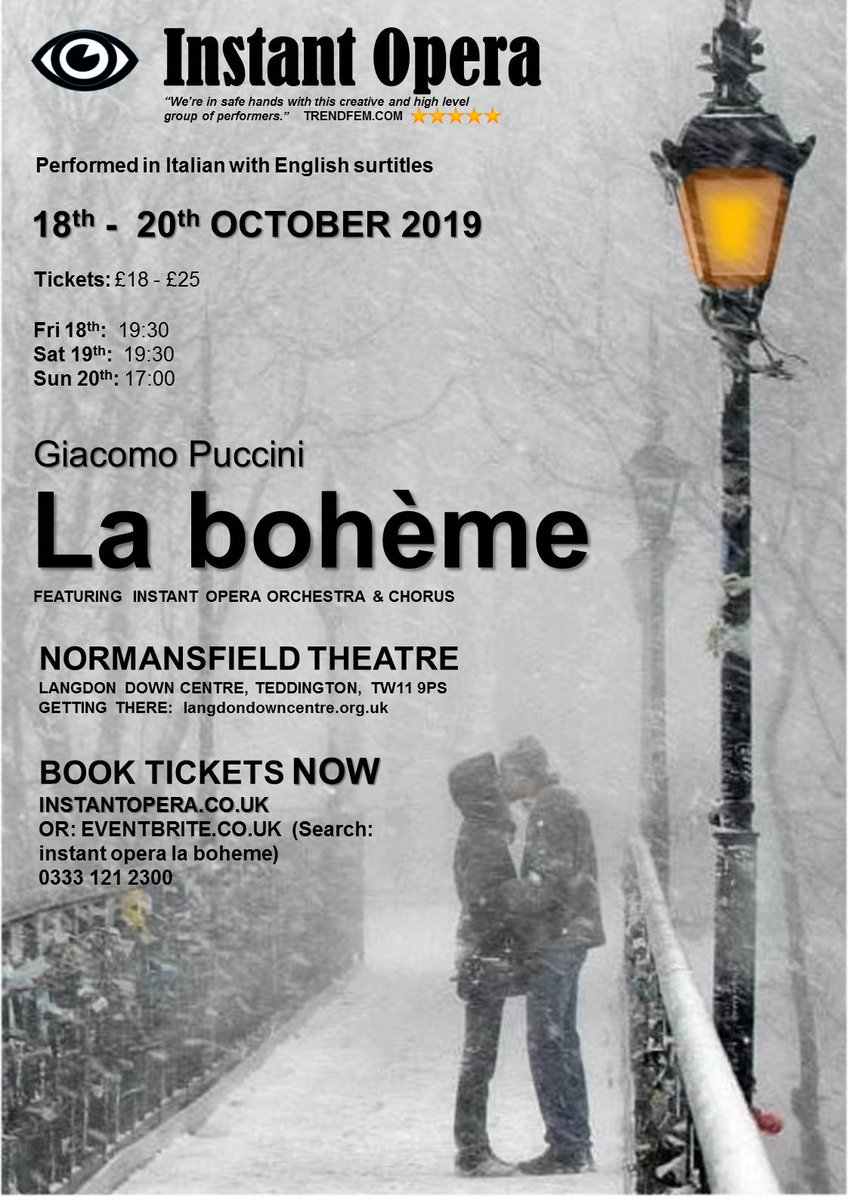 test Twitter Media - Hi Twitter, Anyone available to review on Sunday? #InstantOpera are brilliant, and I'm not just saying that. If I wasn't aware this weekend, I'd be here. Please DM me. #puccini #opera #laboheme https://t.co/iEef04Vz0O