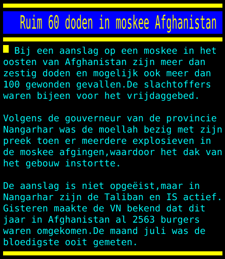 test Twitter Media - Ruim 60 doden in moskee Afghanistan https://t.co/1dw9aCrQHh