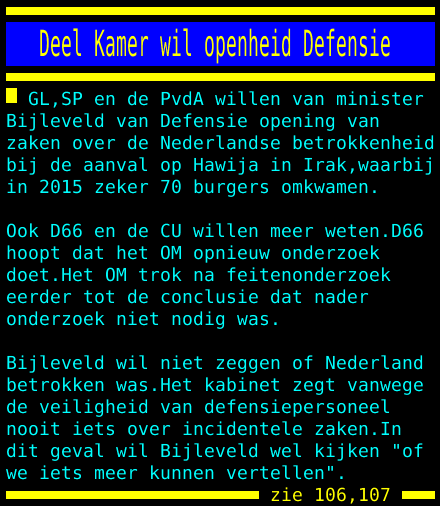 test Twitter Media - Deel Kamer wil openheid Defensie https://t.co/VCv9n0kuF7