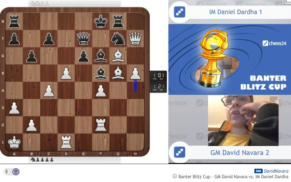 "test Twitter Media - Navara while playing h5: ""He's not threatening anything either""  What did both players miss here? :)  https://t.co/Mcc1PGj9yT #c24live #BanterBlitzCup https://t.co/u9T0aWejlm"