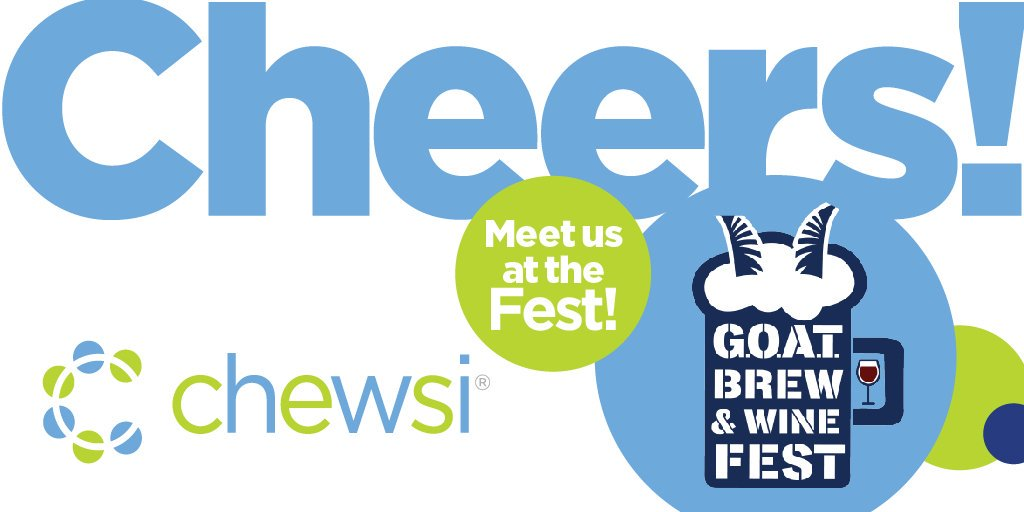 Are you in the Hartford area this weekend? Come visit us at the @GoYardGoats G.O.A.T. Brew & Wine Fest this Saturday 10/19 at Dunkin' Donuts Park and enter our giveaway! #chewsidental #saychewsi #hartfordhasit #yardgoats https://t.co/bPD1hhxW48