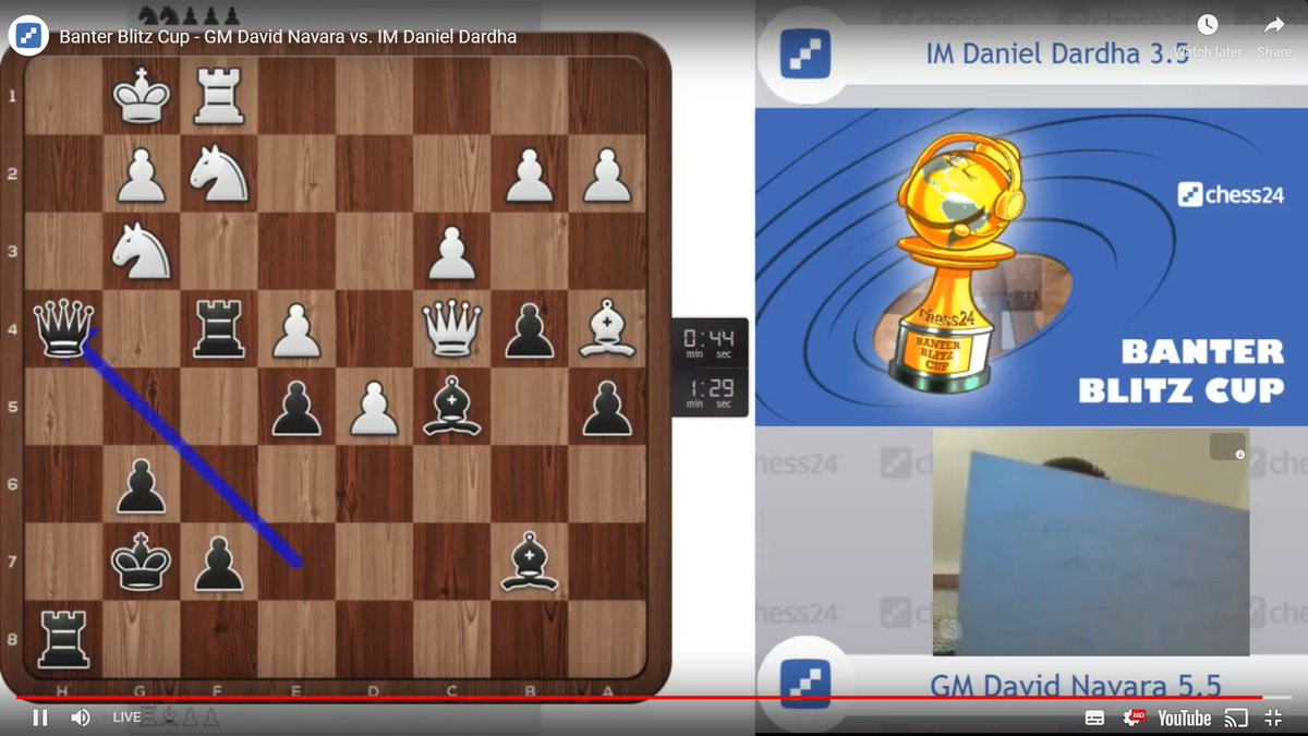 "test Twitter Media - The arbiters may need to get involved as David Navara is currently using notes... to sing his own chess version of the song ""Yesterday""! :)  https://t.co/Mcc1PGj9yT  #c24live #BanterBlitzCup https://t.co/zKLQ32cXfL"