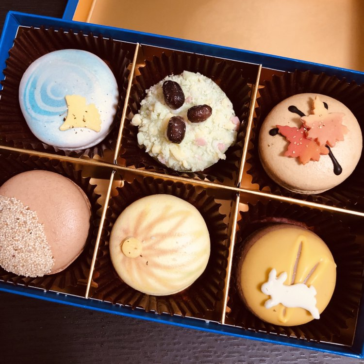test ツイッターメディア - 名古屋ふらんすさんの秋マカロン、和菓子みたいでめためたかわいい… https://t.co/a6EFMaqHlT