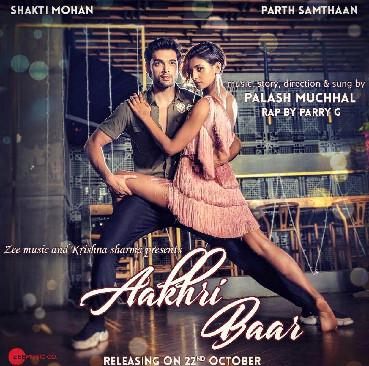 #AakhriBaar, sung by @Palash_Muchhal ft. @MohanShakti & @LaghateParth will be out on 22nd Oct! #StayTuned #ParryG https://t.co/88A8Zz9ekm