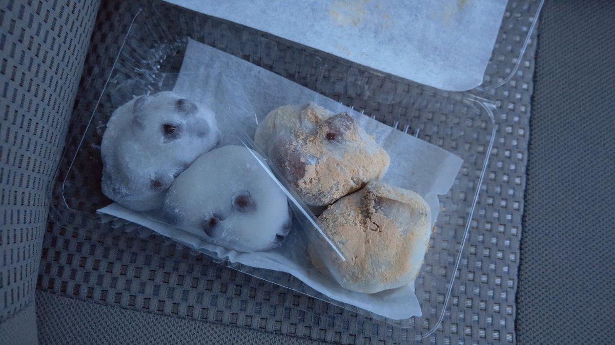 test ツイッターメディア - 出町ふたばさんの栗餅と豆餅(*´▽`) 栗餅うまっ( ゚Д゚)ウマー 栗大きい(*´-`) https://t.co/HXQZyAOcJN