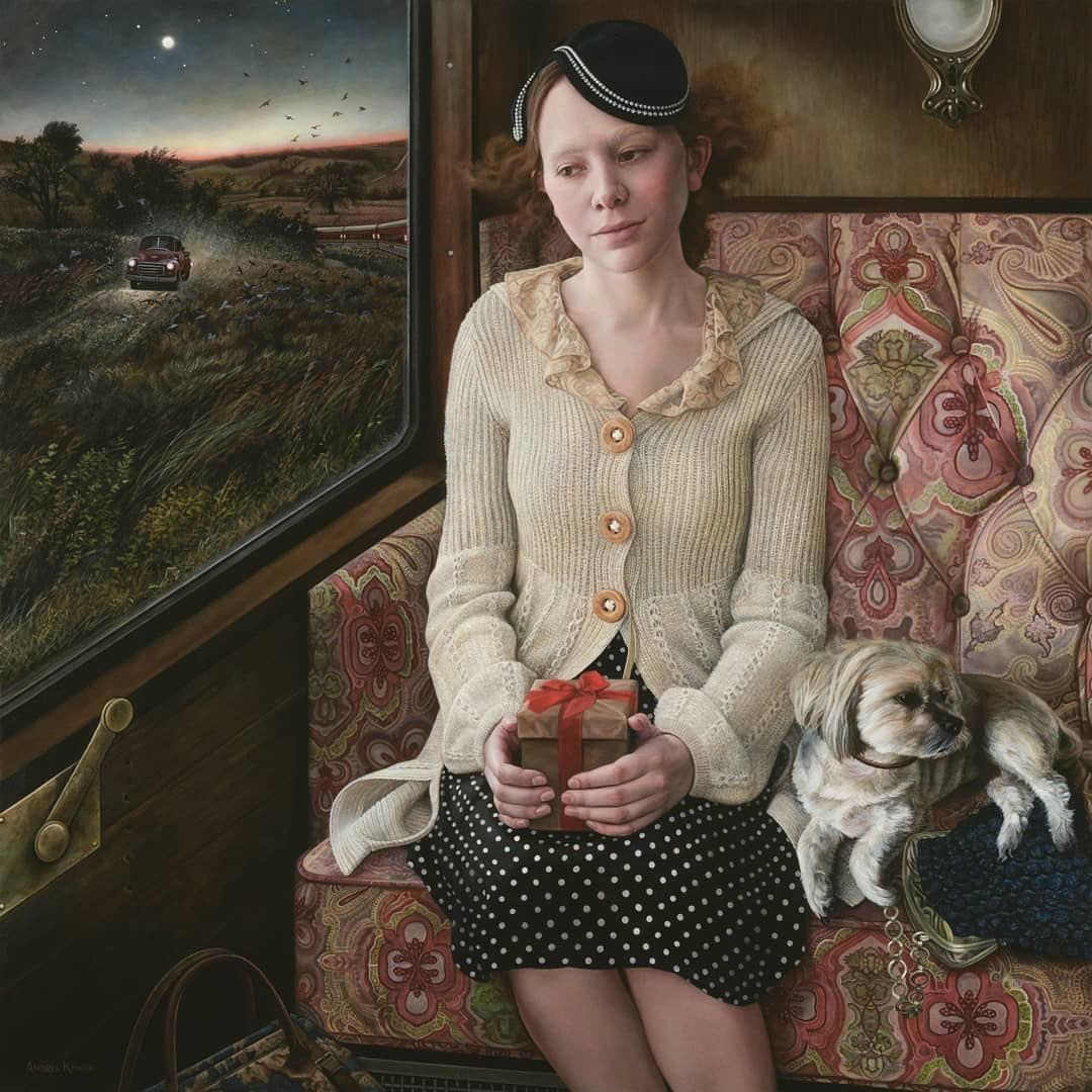 No stone left unturned so to speak when it comes to detail in the brilliant paintings by artist Andrea Kowch.  She's in my top 10  but it's dream on as I'll never be able to afford even a print  Sigh.  Thanks my Twitterarty, I'm here tomorrow as usual.  Helen,  Dr S Toots & Max https://t.co/0iUHBcs2mx