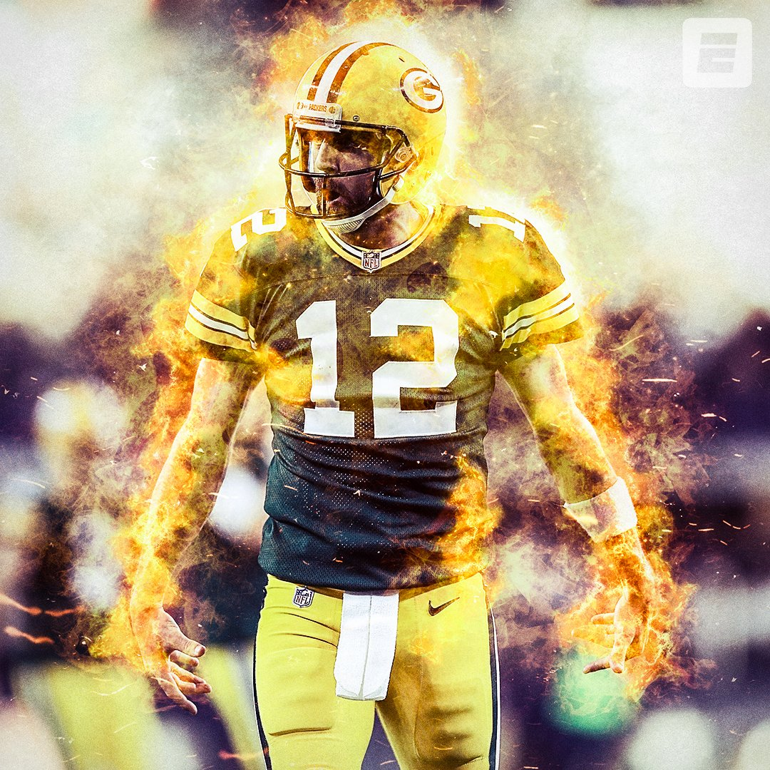 Aaron Rodgers was on FIRE for the Packers 🔥   🔸 25-31 Comp/Att 🔸 429 Pass Yards 🔸 6 Total TD https://t.co/xltEwhrMEU