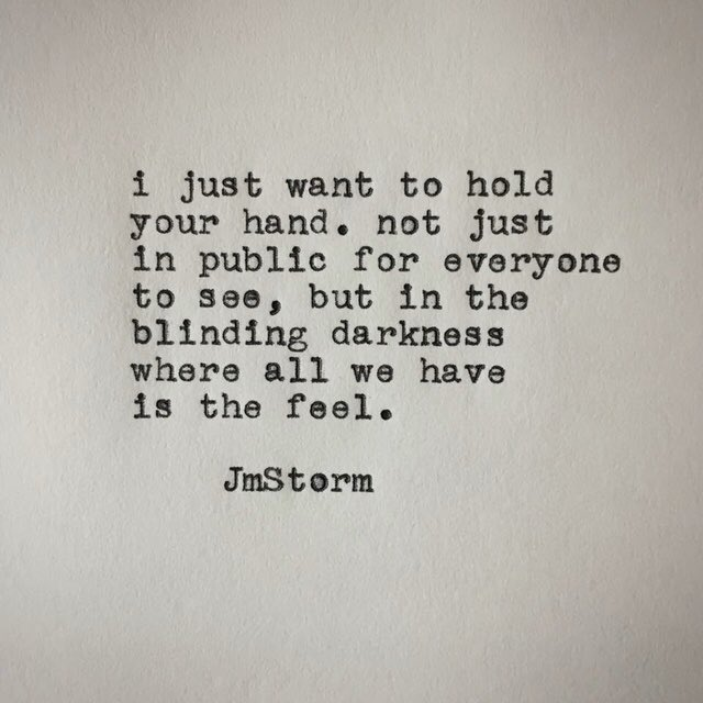 Holding your hand.  In My Head volumes I and II are available through Amazon, Barnes & Nobles and Book Depository. #JmStorm https://t.co/ZyG1lyJzKe