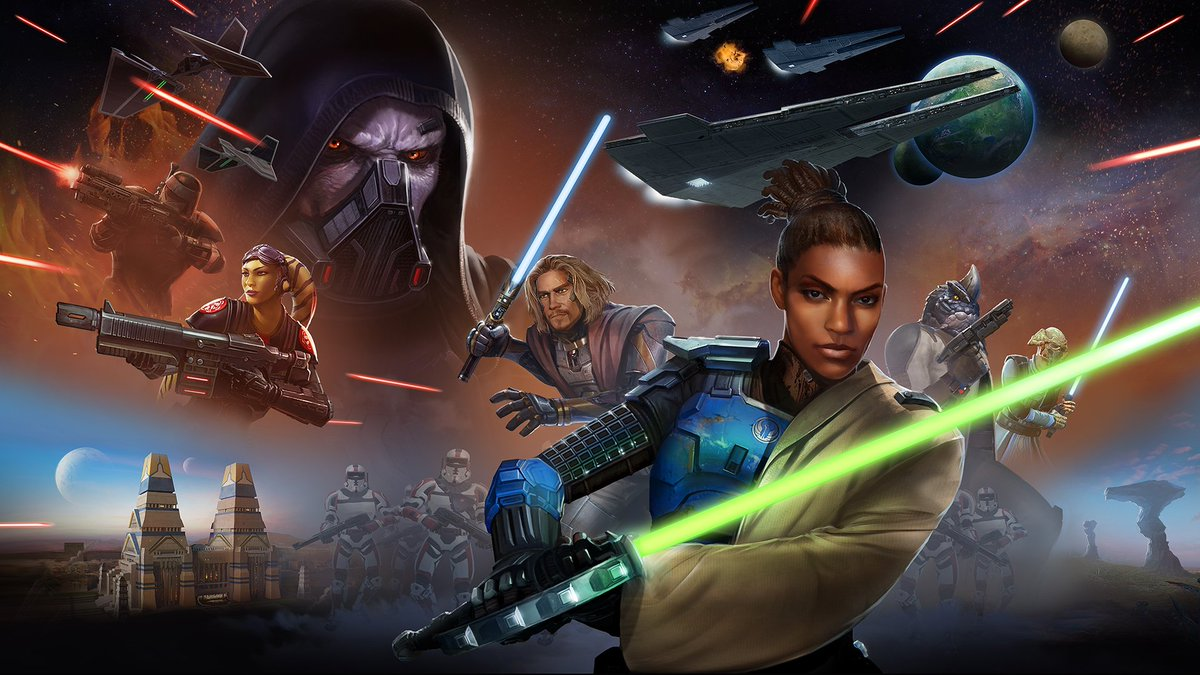 test Twitter Media - Tomorrow #SWTOR Onslaught will be available for every Subscriber! Prepare yourself as the Galactic Republic and Sith Empire wage war once again - both sides increasingly growing desperate to gain the upper hand.  https://t.co/FrwNkuEcrE https://t.co/Gzwe64rpXx