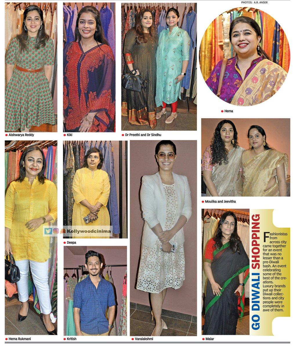 Diwali Shopping - @KikiVijay @Hemarukmani1 @varusarath @VffVishal - @DeccanChronicle   #KollywoodCinima