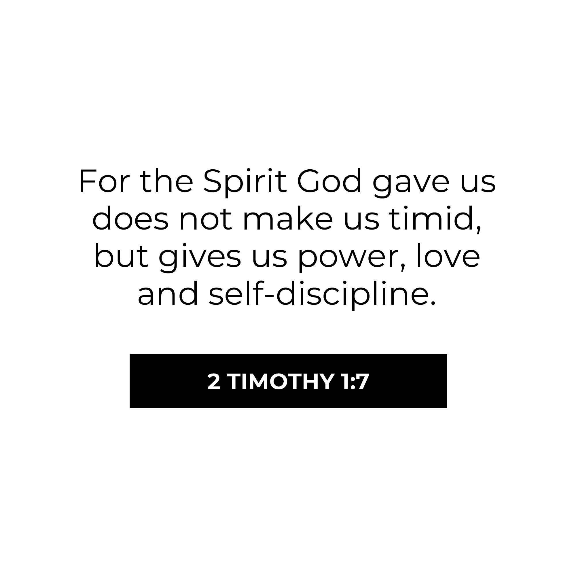 For God did not give us a Spirit of fear but of power and love and self-control. https://t.co/SqYPSxXHza