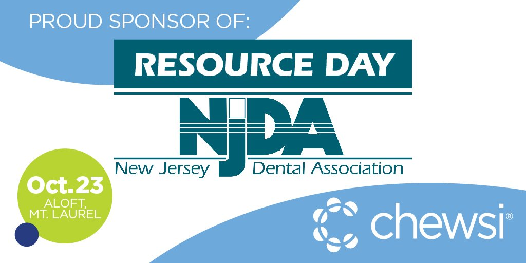 As a proud sponsor, Chewsi is looking forward to meeting dental practices from across NJ at the @njdentalassoc Resource Day. With a full day of practice management and clinical education, please remember to swing by our table to chat about how Chewsi can benefit your practice! https://t.co/rk89NYo8D6