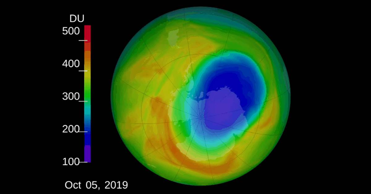 Ozone hole near South Pole shrinks to smallest size ever