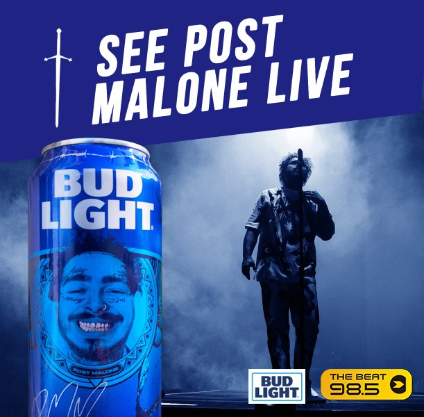 Join @djhammburger  at @Thewellsanantonio  (5539 UTSA Blvd) from 9pm-11pm this Wednesday Oct 23. for your chance to win @PostMalone tickets and PICK UP A SPECIAL-EDITION BUDLIGHT POST MALONE CAN! @BudLightSA #sponsored
